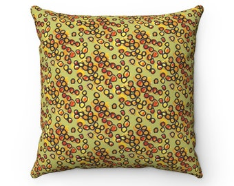 Orange Blossom Seeds Pillow - Large Scale