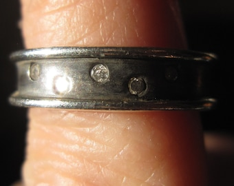 Diamond Scatter Ring in Sterling Silver - Etoile - Stars - Night Sky - Band - Wedding - Friendship - Five Diamonds