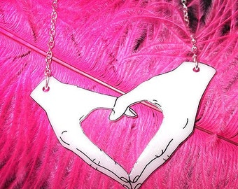 Heart Hands necklace - Happy Hands (Design 2)