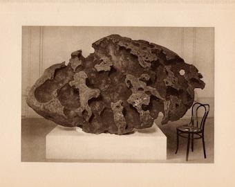 c. 1934 METEORIC IRON print • original vintage print • astronomy print • celestial print • meteor print • The Willamette Meteoric Iron
