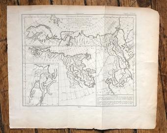 c. 1772 ASIA ANTIQUE MAP - original antique map - Siberia - China - the North and East Coasts of Asia
