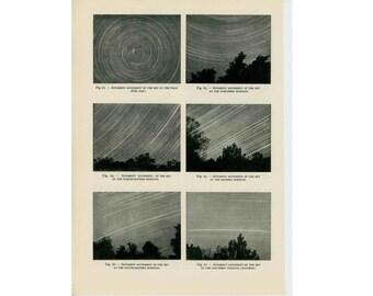 1959 THE SKY movement of the sky original vintage astronomy print
