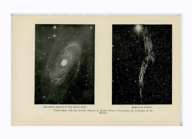 c. 1925 NEBULAS print  original vintage astronomy print  image 0
