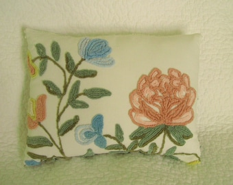 Cabin Crafts Vintage Chenille Botanical Pillow