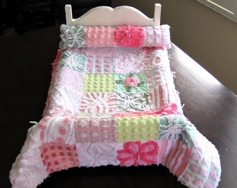 Heirloom Quality Vintage Chenille American Girl DOLL Quilt and Pillow - Custom Order