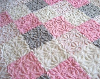Made to Order  Parisian Chic Vintage Chenille Baby Quilt