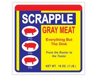 Scrapple Bay Vinyl Stickers