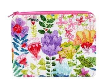 Flowered Zipper Bag