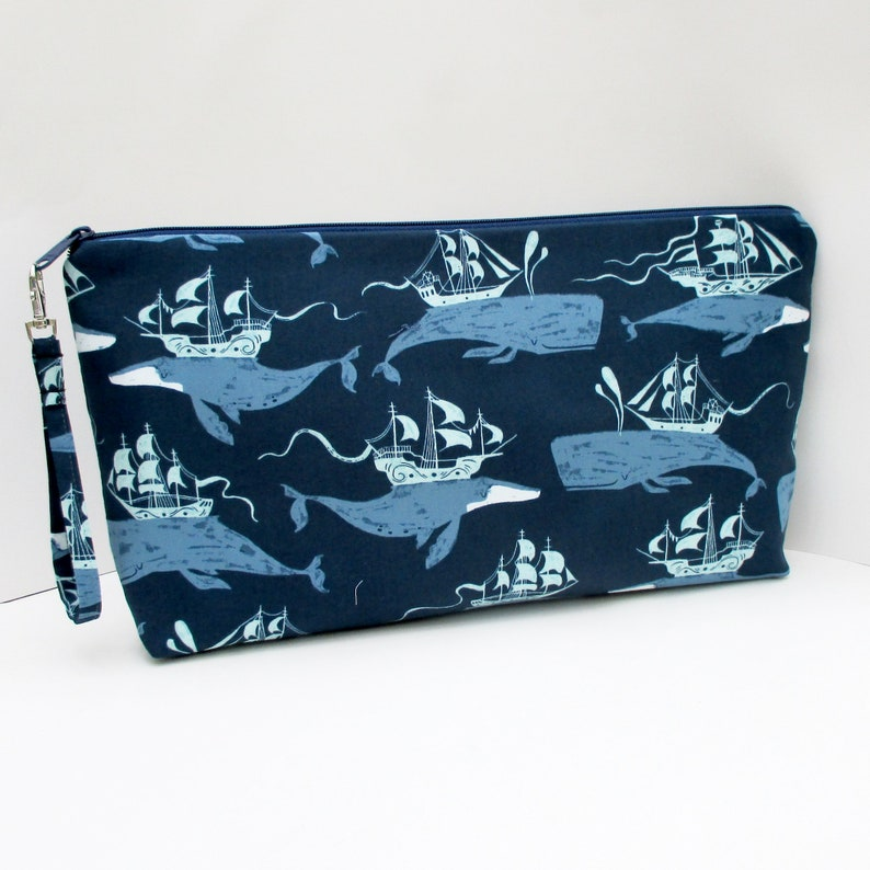 Pencil Case Zippered Canvas Coin Purse Green Palm Tree Sand Beach Sea Wallet Bag Gift With Zip And Liner