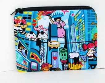 Small Zippered Pouch, Harajuku Girls in New York, Tokidoki Bag, Coin Purse