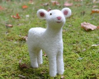 Little lamb, needle felted animal