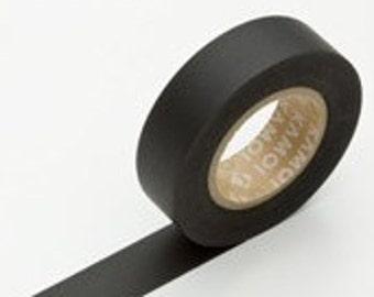 Solid Black Washi Tape Matte MT Japanese CTBK01
