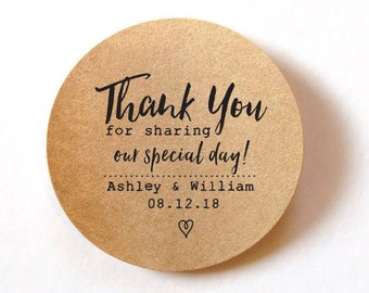 692021e59 Favor Thank You Stickers wedding stickers for favors 60 ROUND stickers  Thank You Labels Stickers Wedding Favor Stickers Wedding Labels