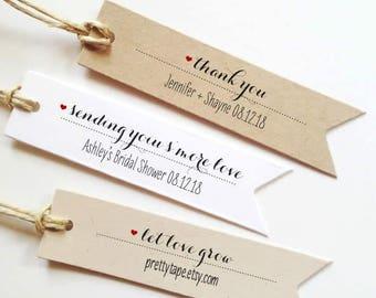 536aad493672 Wedding Favor Tags Wedding Thank You Tags Wedding Tags Custom gift Tag  Personalized tags Bridal Shower Tag Custom Tag Smore Love Tag pttag01