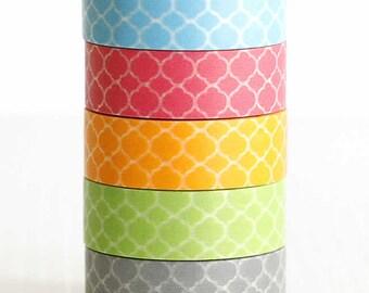 Washi tapemasking tape Narrow Morocco tile