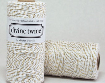 Metallic Gold Bakers Twine Gold Twine With Rose Gold Twine Christmas Holiday Gift Wrap packaging