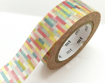 Japanese colorful Washi Tape Masking Tape yellow red teal green Pretty Tape craft supplies card making scrapbook tape