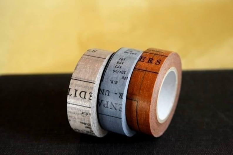 OLD BOOKS Washi Tape Set or Single Japanese Washi Paper Tape  image 0