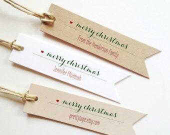 Christmas gift Tags Merry Christmas Gift Tags Personalized Christmas tag Holiday Gift Tags Merry Christmas Tags  (25)