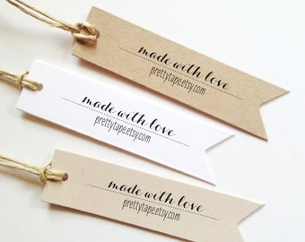 Custom Paper Tag personalize custom tag Wedding Tag Wedding Favor Tag Custom Favor Tags Made With Love Tag Personalized Gift Tag (Set of 25)
