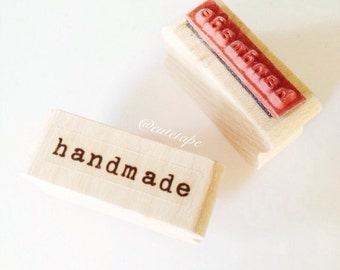 Typewriter Handmade Rubber Stamp Handmade Stamp