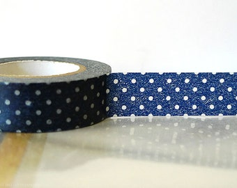 Navy Washi Tape navy wedding decor - navy decor - NAVY BLUE Polka Dots Japanese Tape Navy wedding decoration