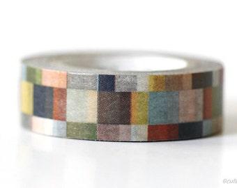 Greyish MT Mosaic Washi Tape 15mm