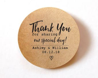 Favor Thank You Stickers wedding stickers for favors 60 ROUND stickers Thank You Labels Stickers Wedding Favor Stickers Wedding Labels