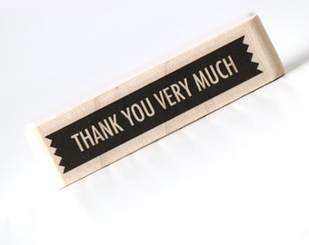 Thank you very much Stamp Thank You Stamps Handmade Rubber Stamp