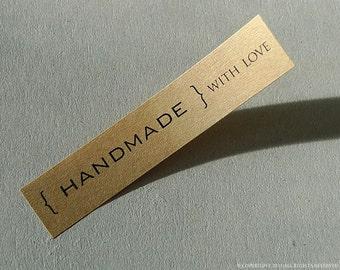 104 Handmade With Love STICKERS - Kraft stickers 104 Kraft Labels