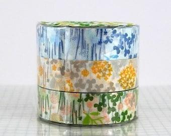 Flower Japanese floral Washi Tape set little garden Japanese masking tape