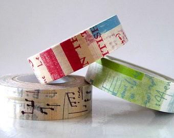 Japanese Graffiti Washi Tape Set or Single LIGHT (A) Artistic Collage Masking Tapes Set or Single