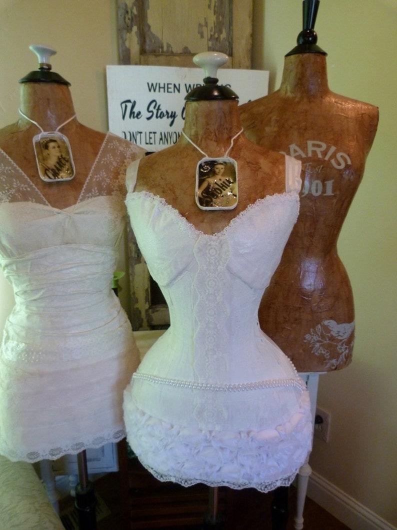 Wedding Dress Form Mannequin Shower Decoration Gift Vintage Etsy
