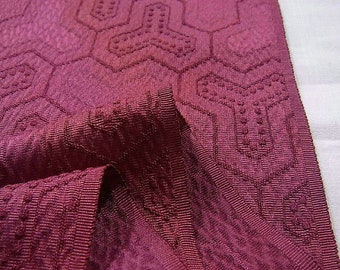 Ombre Red and Purple Rinzu Fabric
