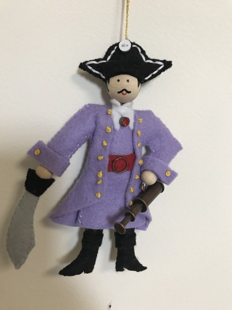 Pirate Captain Halloween Felt Ornament