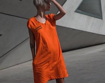 b2d380dbda3c Burnt orange dress