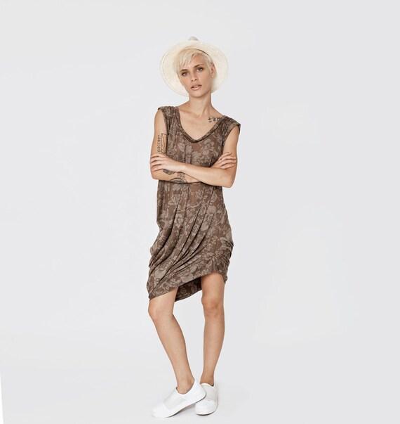 Dress For Women, Brown Dress, Tank Dress, Plus Size Clothing, Sleeveless  Dress, Summer Dress, Knee Length Dress, Plus Size Dress,1980s Dress
