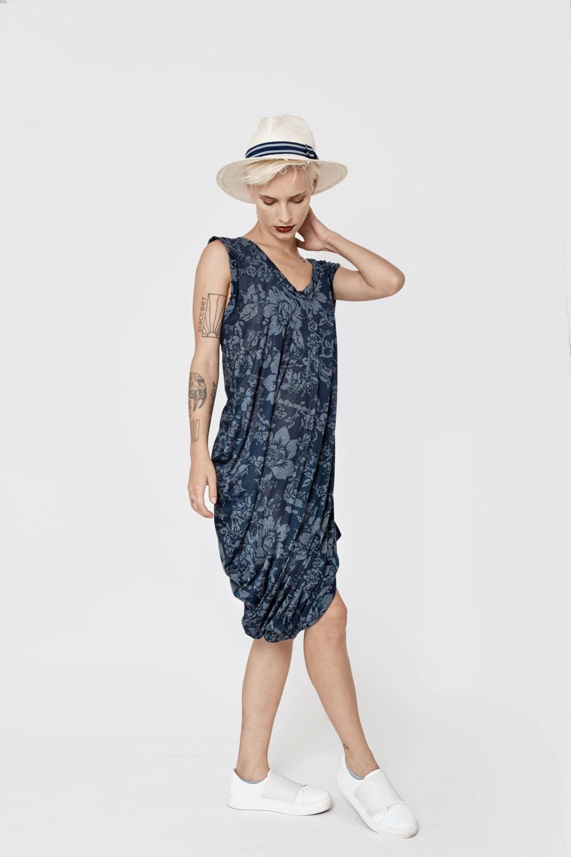 Sale 40 Floral Summer Dresses For Women Blue Sundress Etsy