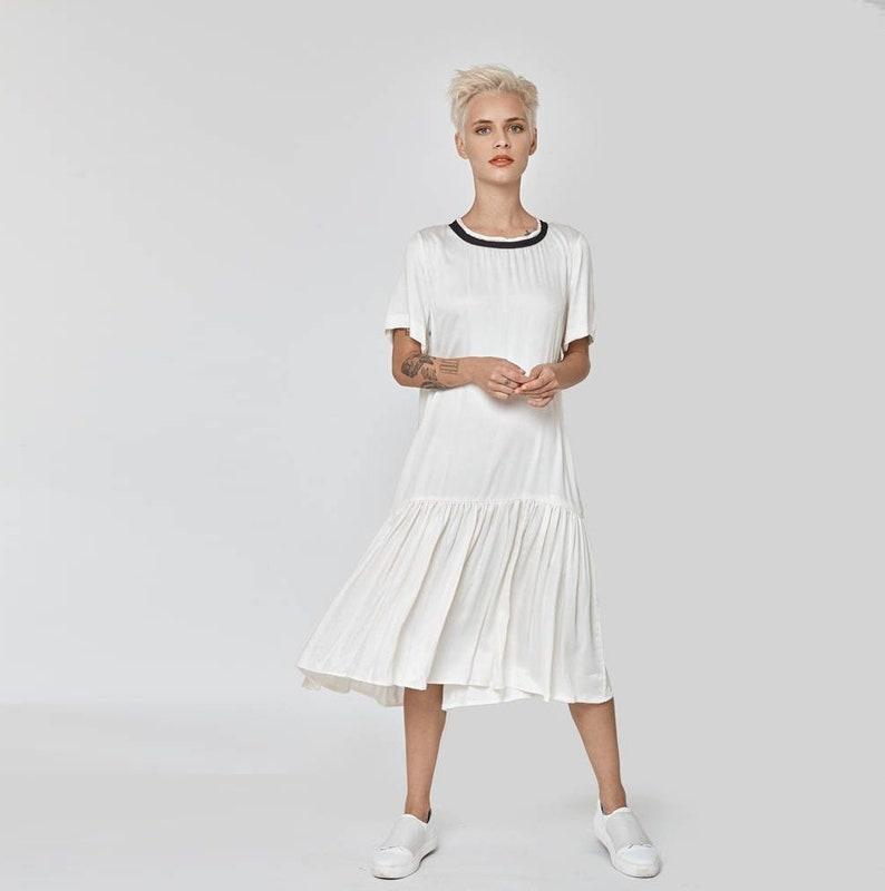 Dress For Women, White Dress, Wedding Dress, Bridesmaid Dress, White Bridal  Dress, Frill Dress, Plus Size Clothing, Oversize Dress, Party