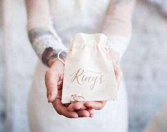 Boho Wedding Ring Bearer Bag, ring pillow alternative