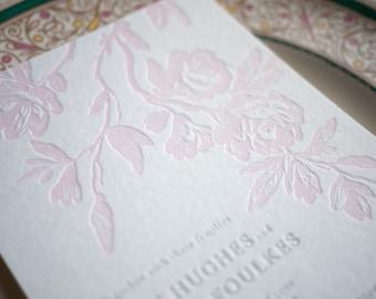 Flora Letterpress Botanical Wedding Stationery