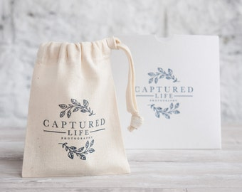 Personalised Cotton USB bags, photography and film packaging