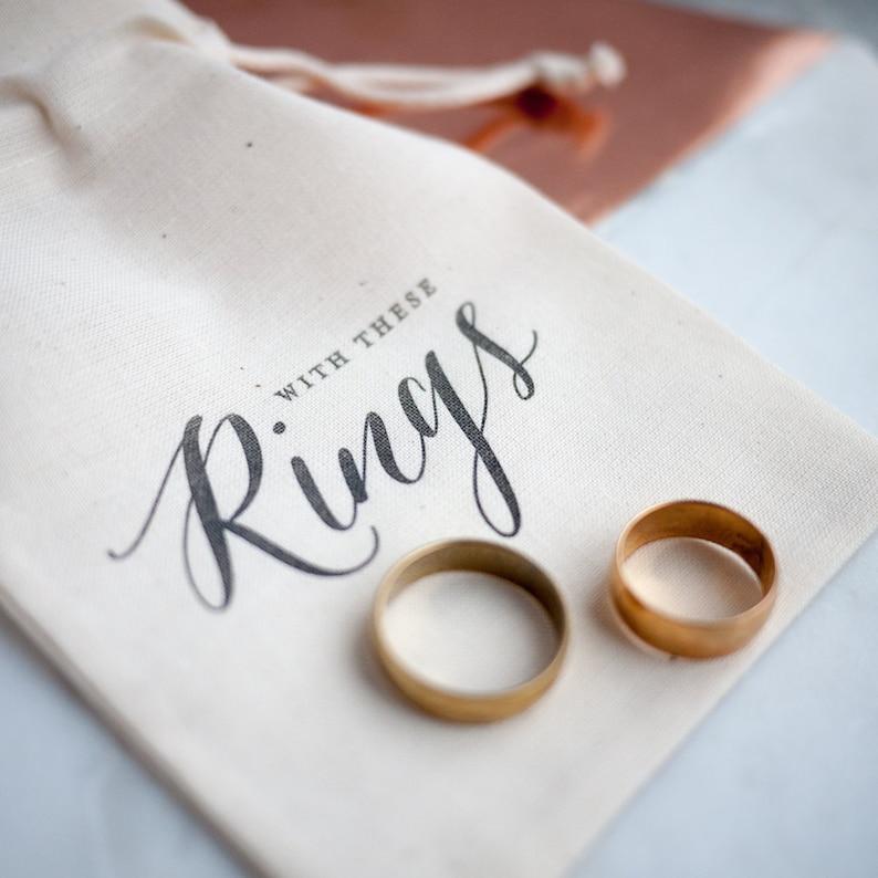 Rustc Wedding Ring Bearer Bag ring pillow alternative Black