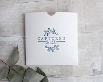 Letterpress Single CD or DVD Sleeves - photography film packaging