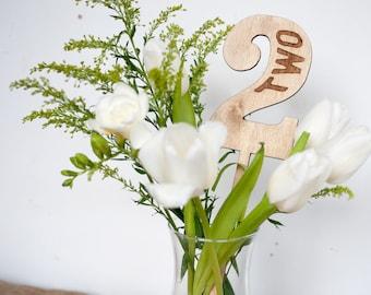 Rustic Wood Wedding Table Numbers, wedding decor