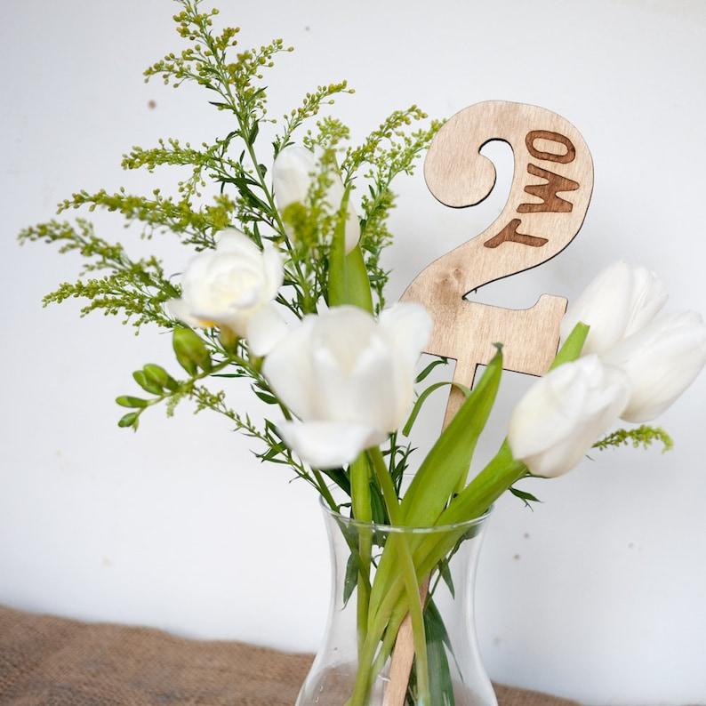 Rustic Wood Wedding Table Numbers wedding decor image 1