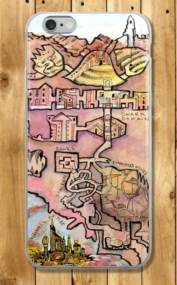 Dungeon Map iPhone Case - City of Flame
