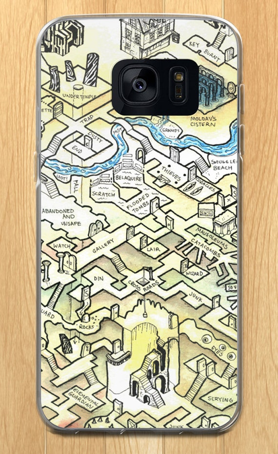 Dungeon Map Samsung Case - Saint Obsidian