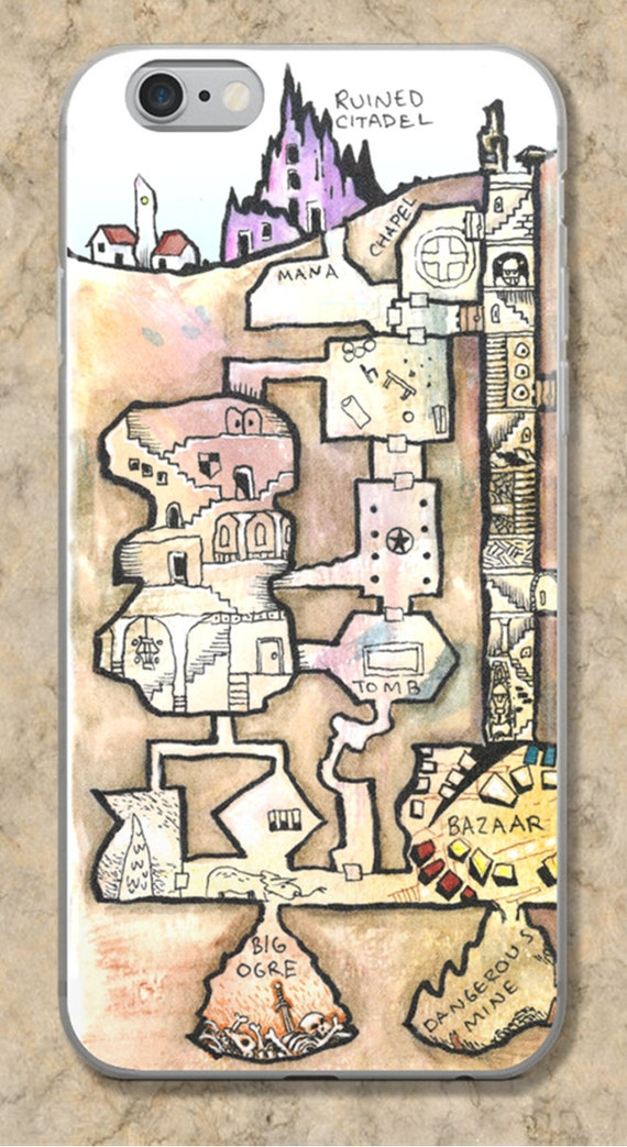 Dungeon Map iPhone Case - The Dwarven Ruin