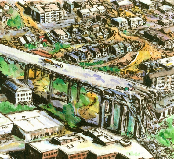 Fremont Doomsday Post-Apocalyptic Map Print